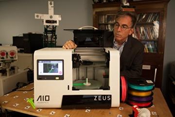 AIO Robotics PR1001 ZEUS All-In-One 3D Drucker und Scanner, Plastik, Desktop, geschlossen, PLA 1,75 mm - 6