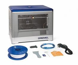 Dremel 3D-Drucker Idea Builder, Filamentspule weiß, Stromkabel, USB-Kabel, SD-Karte, Spulenarretierung, Druckmatte, Nivellierblatt, Reinigungsdorn, Karton - 1