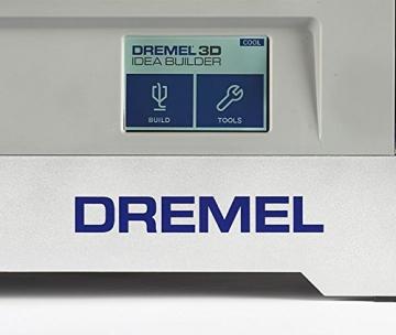 Dremel 3D-Drucker Idea Builder, Filamentspule weiß, Stromkabel, USB-Kabel, SD-Karte, Spulenarretierung, Druckmatte, Nivellierblatt, Reinigungsdorn, Karton - 4
