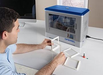 Dremel 3D-Drucker Idea Builder, Filamentspule weiß, Stromkabel, USB-Kabel, SD-Karte, Spulenarretierung, Druckmatte, Nivellierblatt, Reinigungsdorn, Karton - 7
