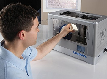 Dremel 3D-Drucker Idea Builder, Filamentspule weiß, Stromkabel, USB-Kabel, SD-Karte, Spulenarretierung, Druckmatte, Nivellierblatt, Reinigungsdorn, Karton - 8