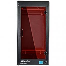 Minadax® MX-600 geschlossener 3D Drucker mit 60cm Druckhöhe in Metall mit Tür - kompatibel zu PLA, ABS, PVA, HIPS uvm - 1